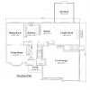 colonial house plan 10082-CL first floor
