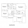 colonial house plan 10082-CL second floor