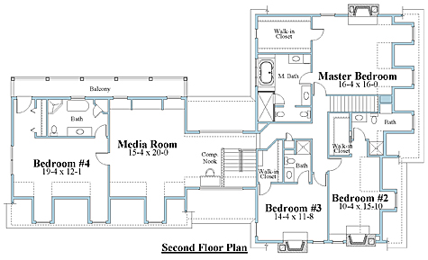 cape house plan second floor_8673cp_2