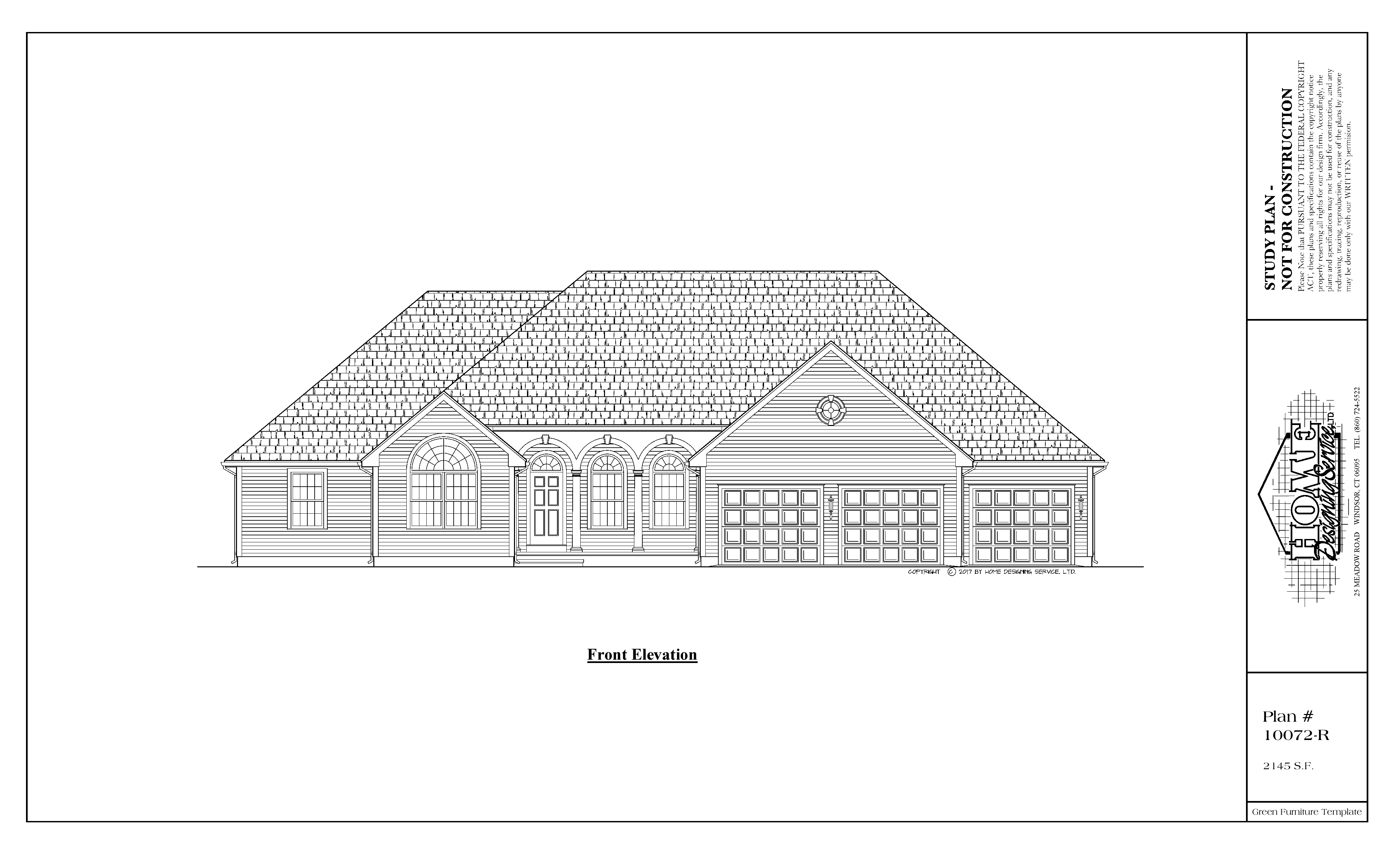 Ranch House Plan 10072-R - Home Designing Service Ltd. on