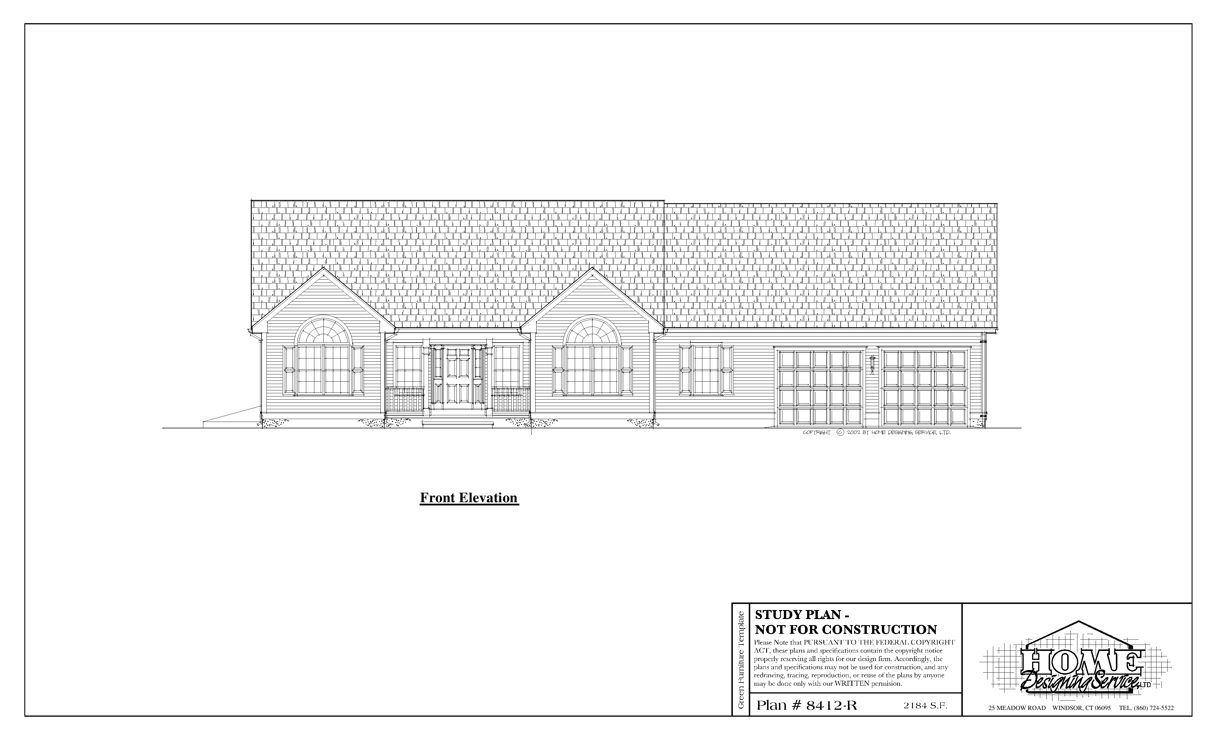 Ranch House Plan 8412-R - Home Designing Service Ltd. on
