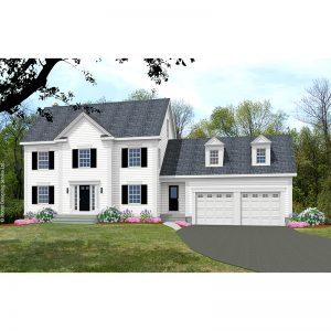 10115-CL-colonial style house plan 3d rendering sq