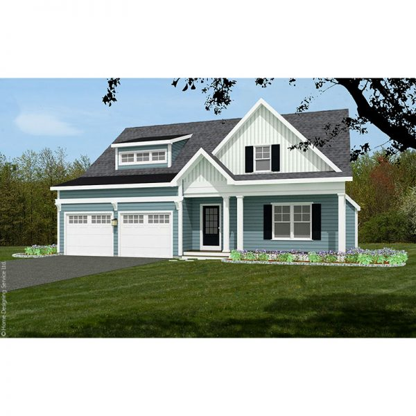10170-CP-cape style house plan 3d rendering sq
