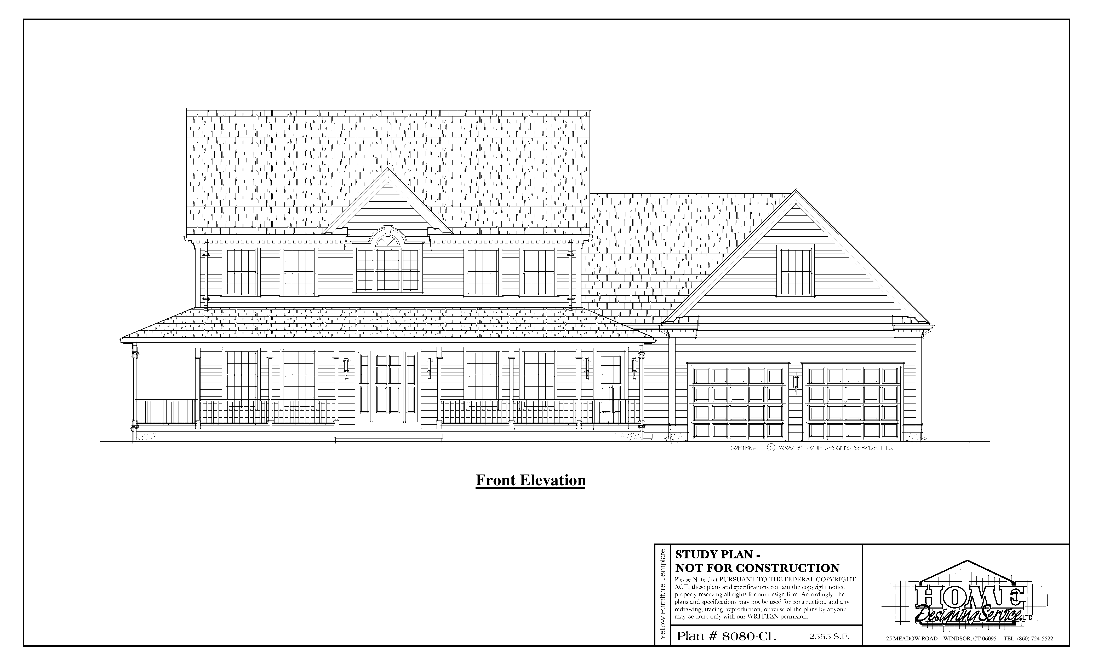 Colonial House Plan 8080 Cl Home