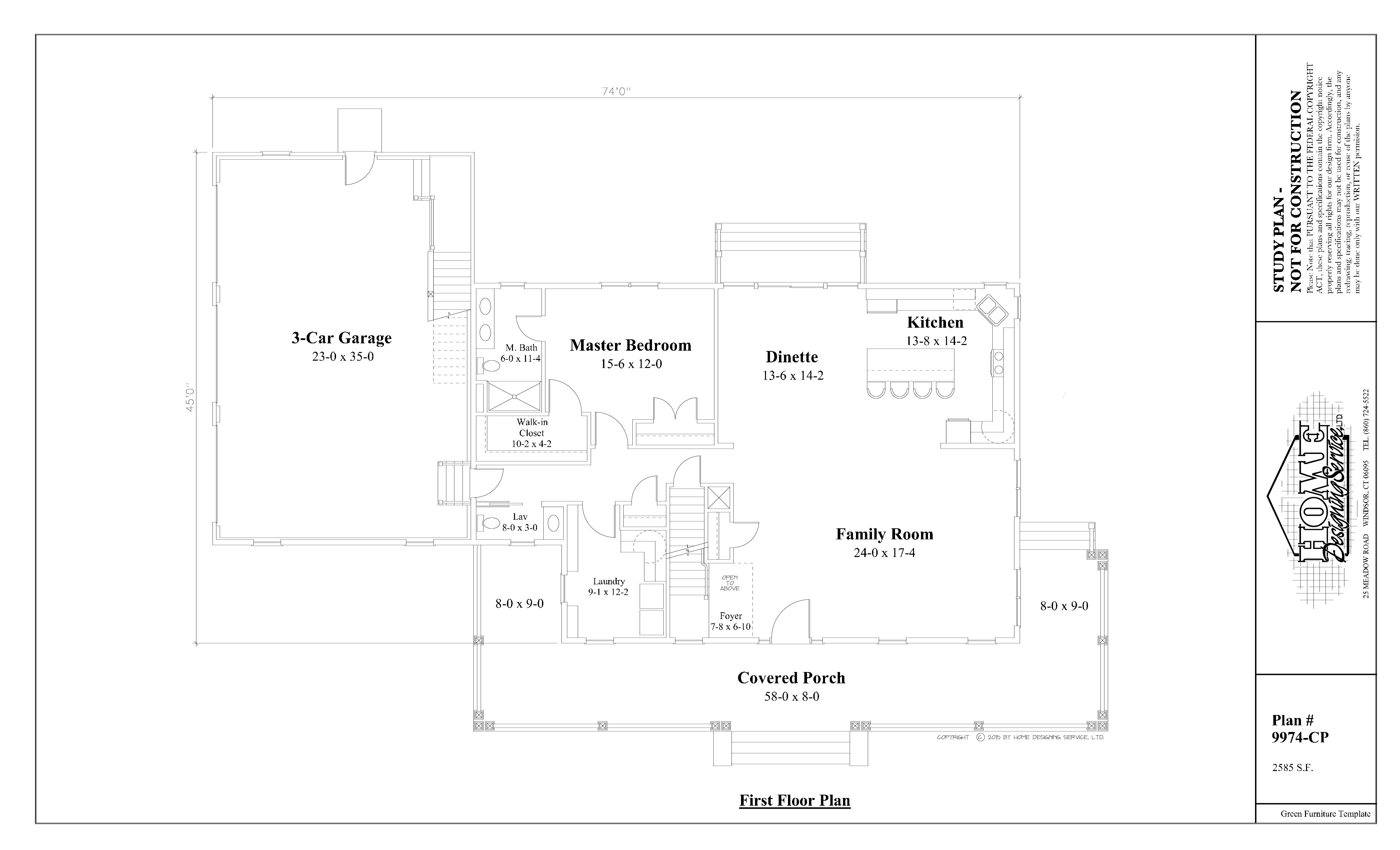 Cape House Plan 9974-cp