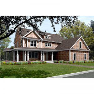 9381-U-craftsman-style house plan 3d rendering sq