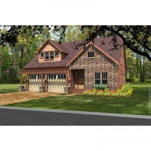 9387-U-craftsman style house plan 3d rendering sq