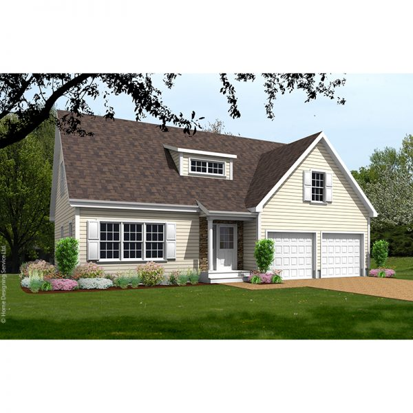 9578-CP-cape style house plan 3d rendering sq