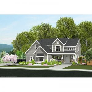 9618-U unique traditional style house plan 3d rendering sq