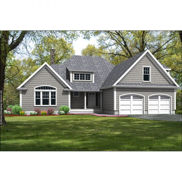 9839-U unique traditional style house plan 3d rendering sq
