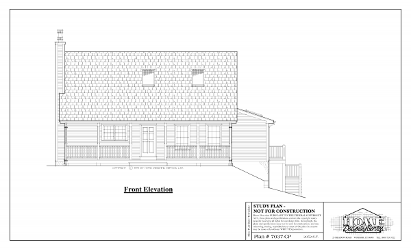 ss-7037cp-1 4 bedroom 2 bathroom cape house plan