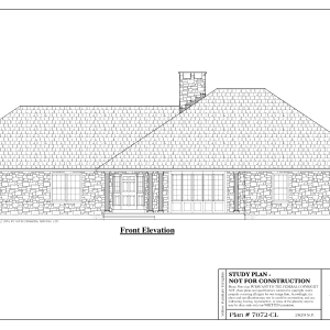 ss-7072r-1 3 bedroom 2 bathroom ranch house plan
