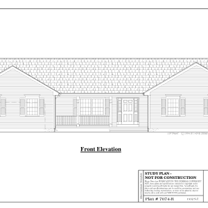 ss-7074r-1 2 bedroom 1 bathroom ranch house plan