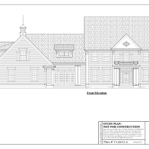 ss-7128-1cll 3 bedroom 2 bathroom colonial house plan
