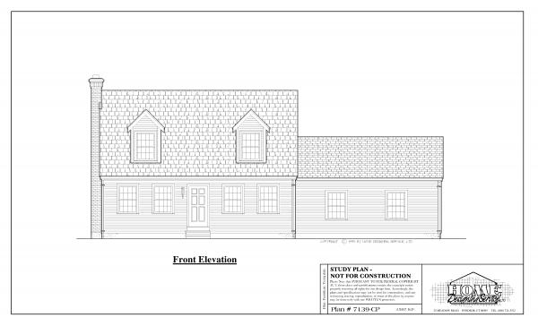 ss-7139cp-1 3 bedroom 1 bathroom cape house plan