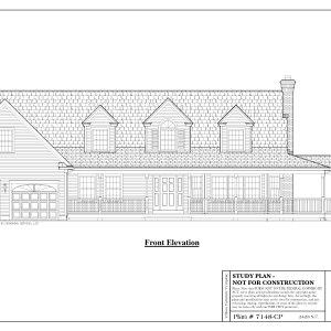 ss-7148cp-1 3 bedroom 3 bathroom cape house plan