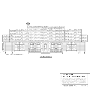 ss-7158rl-1 3 bedroom 2 bathroom ranch house plan