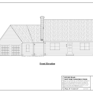 ss-7160cp-1 3 bedroom 2 bathroom cape house plan