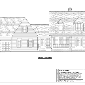 ss-7426cpl-1 3 bedroom 2 bathroom cape house plan