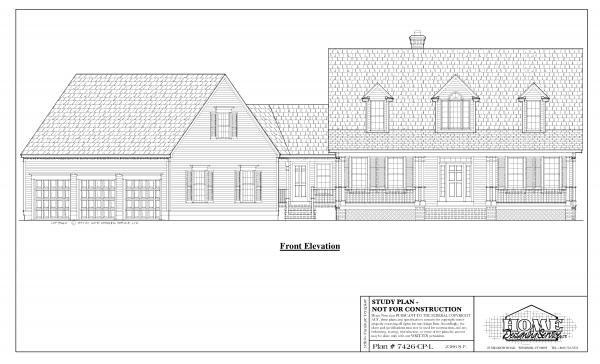 ss-7426cpl-1 3 bedroom 2 bathroom cape house plan