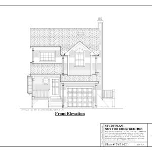 ss-7451ct-1 3 bedroom 1 bathroom contemporary house plan