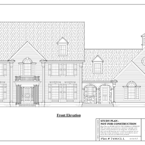 ss-7496cll-1 4 bedroom 4 bathroom colonial house plan