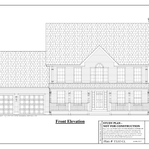 ss-7537cl-1 3 bedroom 2 bathroom colonial house plan