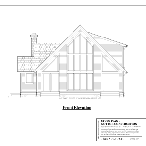 ss-7540ch-1 3 bedroom 2 bathroom chalet house plans
