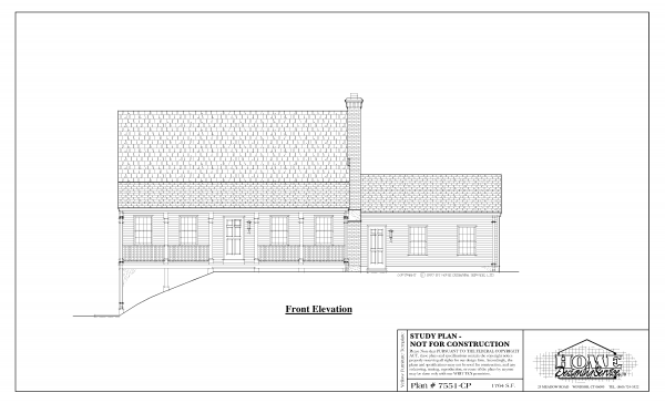 ss-7551cp-1 3 bedroom 2 bathroom cape house plan