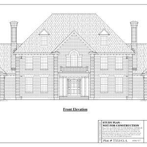ss-7553cll-1 4 bedroom 3 bathroom colonial house plan