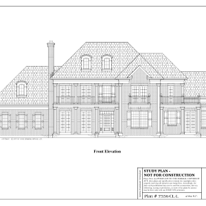 ss-7556cll-1 4 bedroom 3 bathroom colonial house plan
