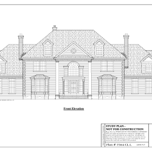 ss-7564cll-1 4 bedroom 4 bathroom colonial house plan
