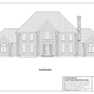 ss-7585cll-1 4 bathroom 3 bedroom colonial house plan