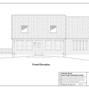 ss-7594cp-1 3 bedroom 1 bathroom cape house plan