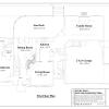 ss-7597cp-2 3 bedroom 2 bathroom cape house plan