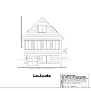 ss-7613ch-1 2 bedroom 1 bathroom chalet house plan