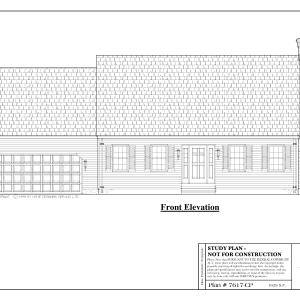 ss-7617cp-1 3 bedroom 1 bathroom cape house plan