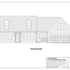 ss-7634cp-1 4 bedroom 3 bathroom cape house plan