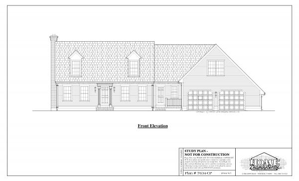 ss-7634cp-1 4 bedroom 3 bathroom cape house plan