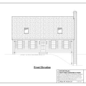 ss-7650cp-1 3 bedroom 2 bathroom cape house plan