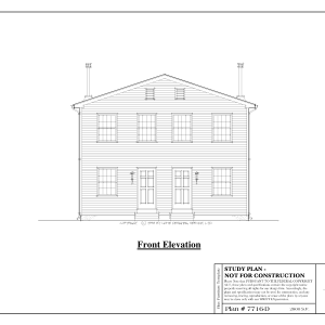 ss-7716d-1 8 bedroom 4 bathroom duplex house plan