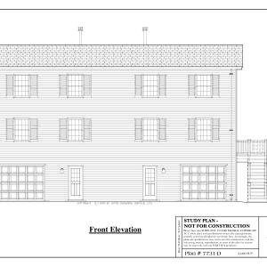 ss-7731d-1 8 bedroom 4 bathroom duplex house plan