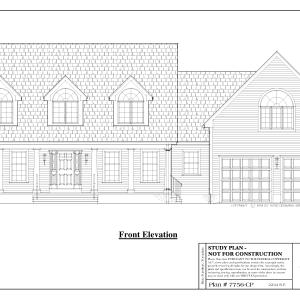 ss-7756cp-1 3 bedroom 2 bathroom cape house plan