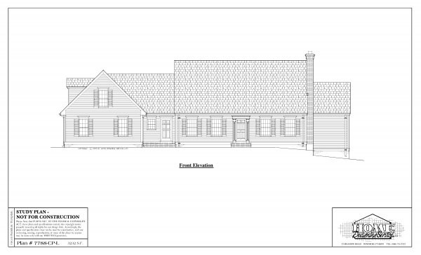 ss-7788cpl-1 3 bedroom 3 bathroom cape house plan