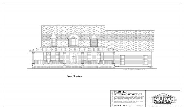 ss-7811cp-1 3 bedroom 2 bathroom cape house plan