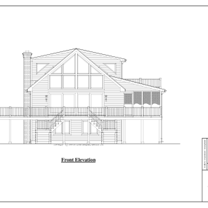 ss-7815ch-1 3 bedroom 3 bathroom chalet house plan