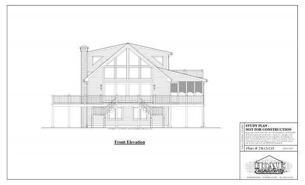 ss-7815ch-1 3 bedroom 3 bathroom chalet house plan