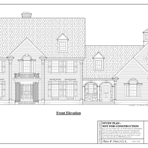 ss-7941cll-1 4 bedroom 3 bathroom colonial house plan