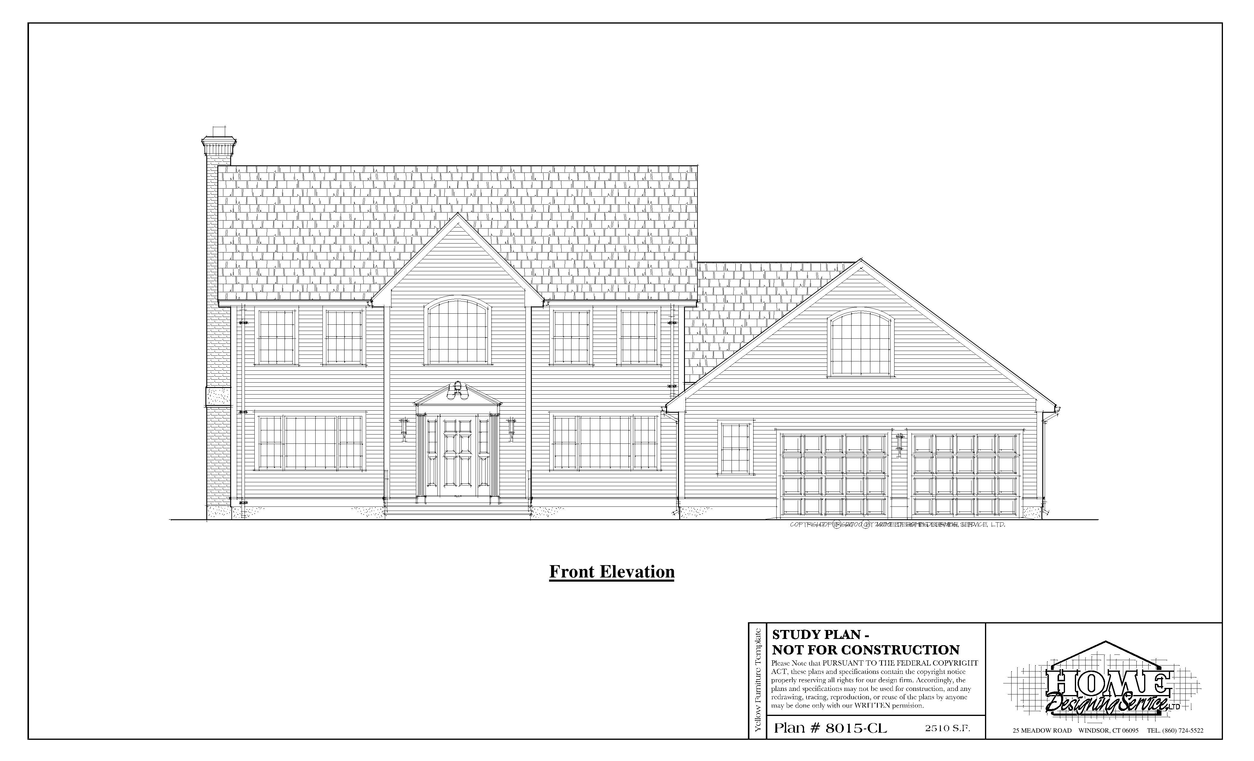 Colonial House Plan 8015 Cl Home