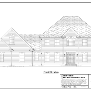 ss-8514cl-1 4 bedroom 3 bathroom colonial house plan